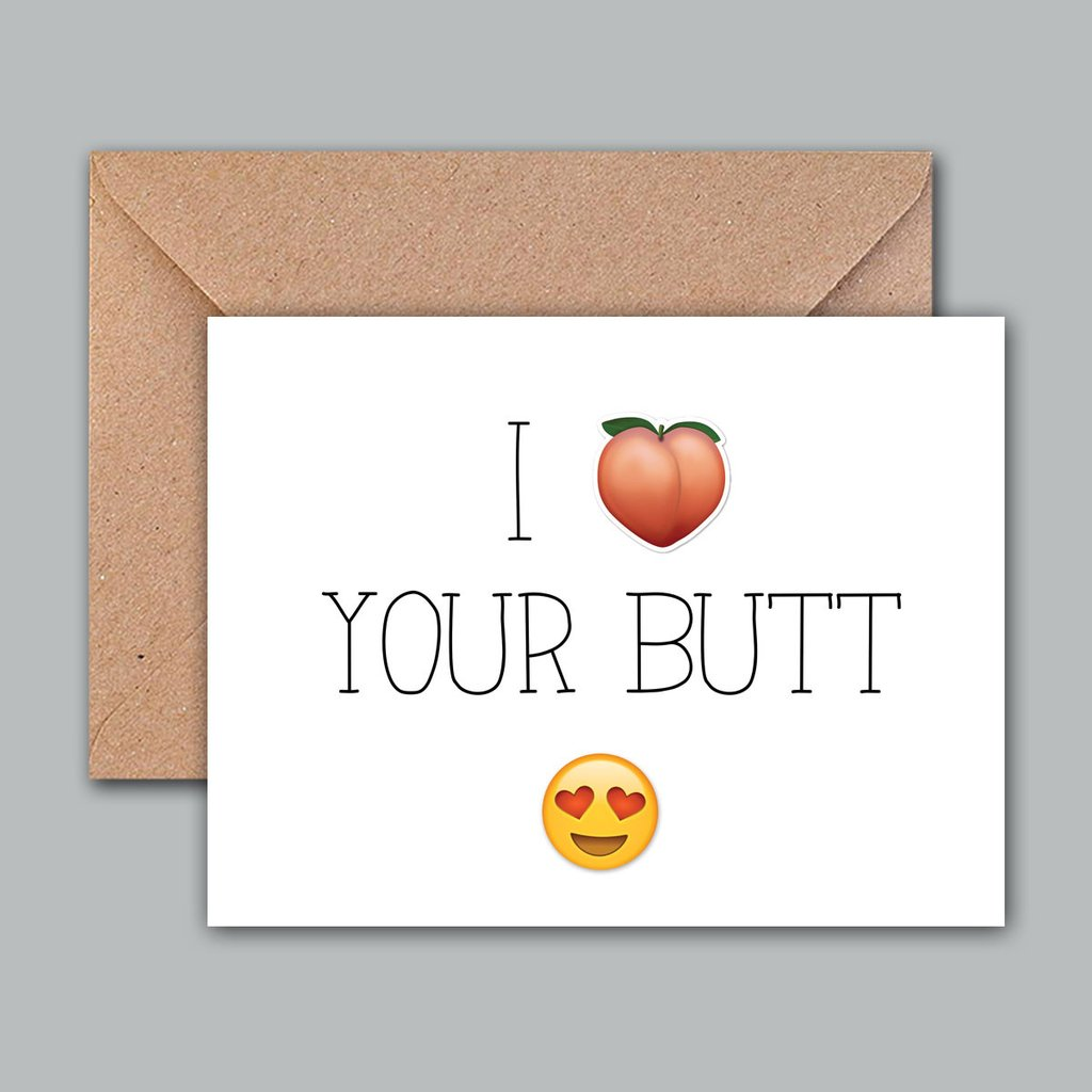 Buy Greeting Card I Love Your Butt Online Propshop24